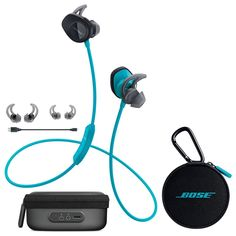 Bose SoundSport Wireless In-Ear Headphones - Aqua & Charging Case - Bundle