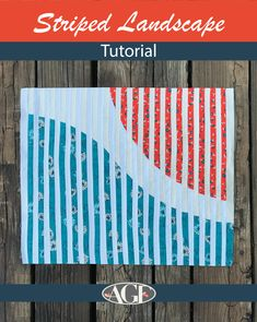 Striped-Landscape8 Quilting Tips, Quilting Tutorials, Quilting Projects, Optical Illusion Quilts, Optical Illusions, Bargello Quilts, Art Gallery Fabrics, Miniture Things, Blue Fabric