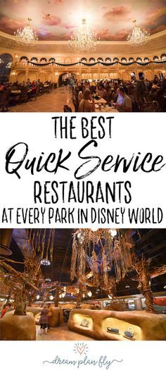 When you're planning a trip to Walt Disney World, don't miss out on the best quick service or counter service restaurants. Whether you're on the Disney Dining Plan or not, you will love these fast casual meals that will make food in the Disney parks fun. These restaurants are cheap and delicious. If you're eating in the Disney parks like Magic Kingdom, Epcot, Hollywood Studios, or Animal Kingdom! Best Quick Service Restaurants at Every Park in Disney World - Dream Plan Fly