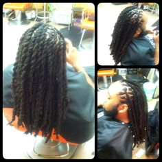 Jumbo two strand twist with locs by me
