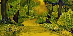 77chen - The Last Unicorn (1982) ↳ The Unicorn's Forest. Background inspiration.