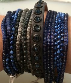 bracelets  Denim is a huge color for fall - you'll see it in everything from jewelry to cashmere