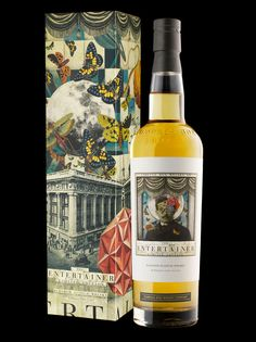 The Entertainer scotch whisky by Compass Box, packaging design by Stranger & Stranger - via The Dieline