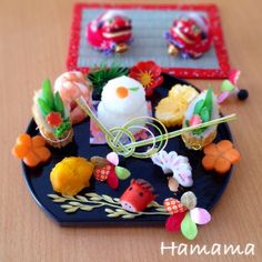 Japanese New year style lunch plate Japanese New Year, Japanese Food, Best Cookie Recipes, Holiday Recipes, New Year's Eve Appetizers, Sushi, Food Art For Kids, New Year's Food, Bento Recipes