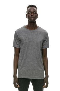 46e2091d6b2a JEAN 156 Merino T-Shirt Grey