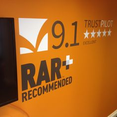 One of our new wall graphics! #RAR #TrustPilot #Bournemouth #MediaLoungeLife