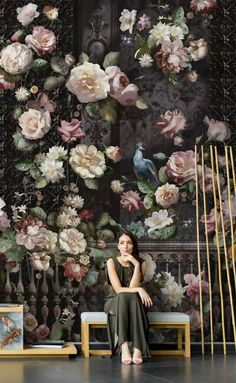 Items similar to Floral Big Wall Murals, Rose Flowers Wall Decor Printed Photo , Big Flowers Wall Art Wall poster Living Room on Etsy Bold Wallpaper, Wallpaper Size, Painting Wallpaper, Print Wallpaper, Big Flowers, Rose Flowers, Wall Murals, Wall Art, Flower Wall Decor