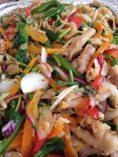 Chicken feet salad recipe