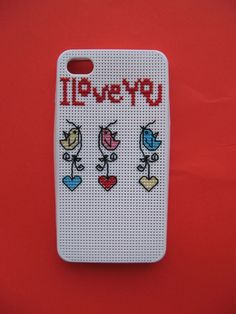 Cross Stitch Love Birds Iphone 4 Case FREE by handstitchedbyaylin, $30.00