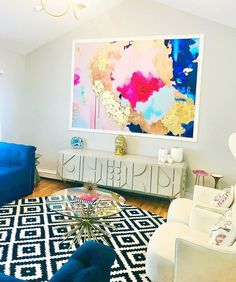 """Waves of fuchsia and sapphire create a larger than life wave of color. Our """"Sapphire"""" wall mural features large patterns of bright pink and blue tones that can be enhanced by the gold leafing kit that comes with every single mural or wallpaper order. This mural comes with a gold leaf kit to add real gold leaf in areas that you really want to see shine!! 5' x 7' wall mural comes in 4 sections Grey Wallpaper Abstract, Watercolor Wallpaper, Pink Wallpaper, Peel And Stick Wallpaper, Abstract Art, Prepasted Wallpaper, Wallpaper Panels, Adhesive Wallpaper, Large Wall Murals"""