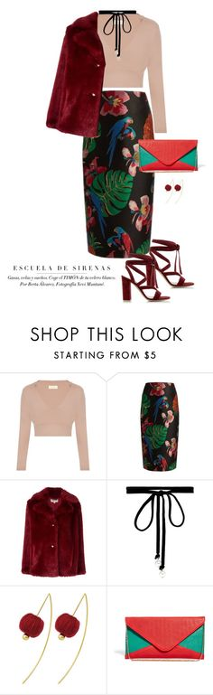 """""""Reddy"""" by kts-desilva ❤ liked on Polyvore featuring Valentino, MICHAEL Michael Kors, Joomi Lim, Johnny Loves Rosie and Gianvito Rossi"""