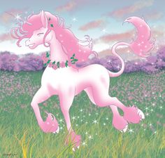"""Don't you love unicorns? They're so pretty and adorable! Sometimes they're pink, and that's my favorite. Unicorns are my favorite thing eva!"""