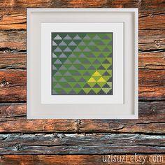 Zelda Geometric Modern Triforce PDF Cross Stitch