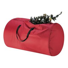 The Holiday Aisle Tiny Tim Totes Canvas Christmas Tree Storage Bag Color: Red Christmas Tree Storage Tote, Christmas Tree Canvas, Tall Christmas Trees, Christmas Fun, Wreath Storage, Tote Storage, Oxford, Large Bags, Totes
