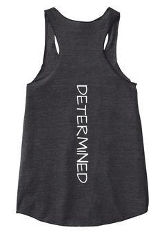 Determined Eco Black Women's Tank Top Back