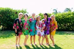 Real life Sample - Bridesmaids Robes made From E10 Fabric Pattern