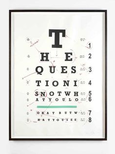 Oliver Clegg - the question is not what you look at but what you see, Silkscreen
