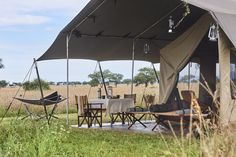 Explore seamlessly embodies the essence of classic safari adventures – interpreted with contemporary tastes in mind. Campaign-style furniture and durable canvas, leather and chrome elements echo the textures and tones of the natural surrounds. Safari Adventure, Textures And Tones, Closer To Nature, Contemporary, Modern, Tent, Restoration, Chrome, Patio