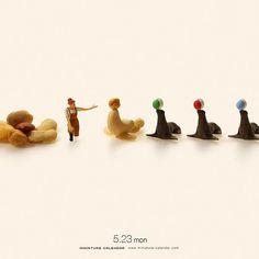 """. 5.23 mon """"Sea lion"""" . 「一頭逃げたのでごまかしておきました。」 . #ナッツ #アシカ #Nuts #SeaLion #このあとおいしくいただきました . . ーーーーーーーーー #写真集第2弾発売中 #MiniatureLife2 #ミニチュアライフ2 #詳しくはプロフィールのURLから ."""