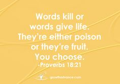 Speak wisely. <3