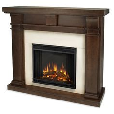 Lifesmart Lifelux Media Center Fireplace Finish: White Frost ...