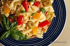 Farfalle with fresh tomatoes, basil olives and cheese @MJs Kitchen