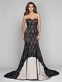 0a2dbc85354 TS Couture® Military Ball   Formal Evening Dress - Champagne Plus Sizes    Petite Trumpet Mermaid Sweetheart Sweep Brush Train Tulle   Lace