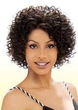 Perfect Lace Front Short Curly Synthetic Afro Wig