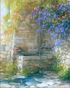 Old Stone Fountain, Antonietta Varallo