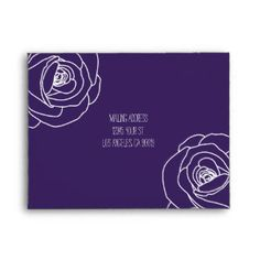 Simple & Elegant Purple Roses, Response Envelope