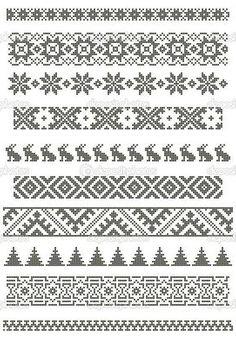 Pixelart Norwegisches Muster mit Häschen