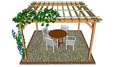 Attached Pergola Plans | Free Outdoor Plans - DIY Shed, Wooden ...