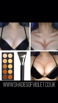 Wow! Boob job in a box! Contouring really is the new photoshop. Www.shadesofviolet.co.uk #contour #palette #younique #teamshades