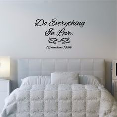 Do Everything in Love Bible Verse Vinyl Wall Decal 22503