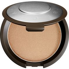 BECCA Shimmering Skin Perfector Pressed (125 BRL) ❤ liked on Polyvore featuring beauty products, makeup, face makeup, face powder, beauty, highlighter and faces