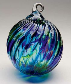 Glass eye's skilled artisans hand make each ornament using ancient glass blowing techniques assuring each has its own unique qualities.
