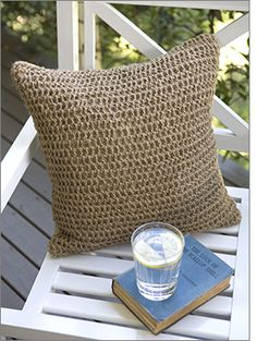 Outdoor crochet cushion - string cushion