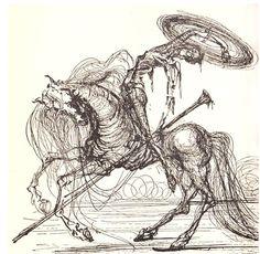 from Salvador Dalí Illustrates Don Quixote
