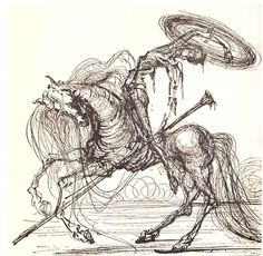 from Salvador Dalí Illustrates Don Quixote