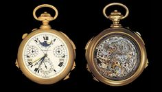 Patek Philippe Supercomplication – $11 million. Patek Philippe also created the yellow-gold Supercomplication for banker Henry Graves Jr in 1932. Graves competed with James Ward Packard (of the car company) for the world's most complicated watch and the Supercomplication ensured Graves' victory.