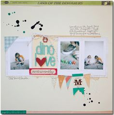Another layout that I really like.  The bunting on the bottom is a nice touch.