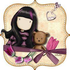 Varieté de Láminas para Decoupage: Muñequitas Gorjuss Cute Clipart, Voodoo Dolls, Picture Postcards, Butterfly Wallpaper, Digi Stamps, Cute Images, Copics, Illustrations, Cute Illustration