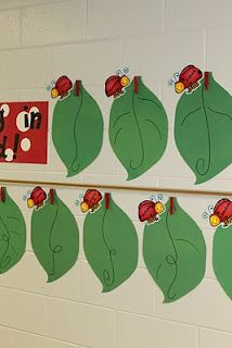 dandelions and dragonflies: Classroom Reveal.Take Two! New Classroom, Classroom Design, Classroom Themes, Ladybug Bulletin Boards, Birthday Bulletin Boards, Hallway Displays, Classroom Displays, Classroom Organization, Preschool Door