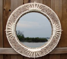 Compass Point Shell Mirror  amazing and beautiful!