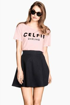 Falda corte redondo   H&M