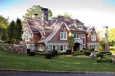 I love shingle style. Architect Steven Mueller in Greenwich, CT. New England Home.