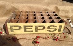 Vintage 1960's Pepsi Cola Crate by CrazyDaisyGardens on Etsy