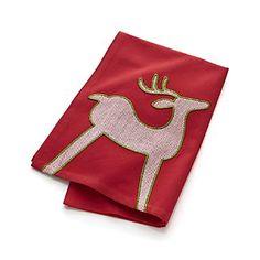 Herringbone Reindeer Dish Towel