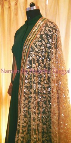 Emerald green anarkali - namah by priyanka duggal Contact : +918879518919