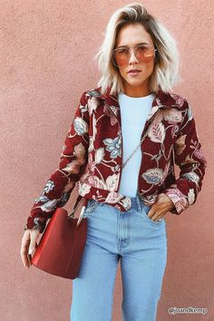 Product Name:Jacquard Floral Cropped Jacket, Category:CLEARANCE_ZERO, Price:42.9